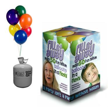 Disposable Balloon Gas & Latex Balloons (Delivered)