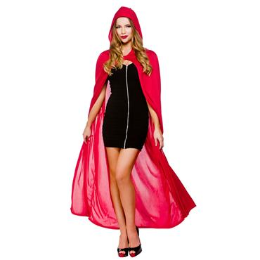 Cape With Hood - Red 52""
