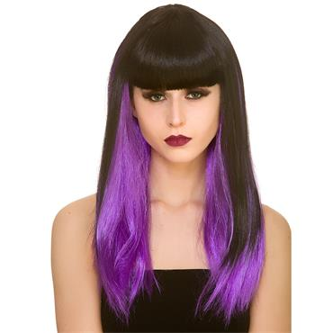 Dark Fantasy Wig - Black/Purple