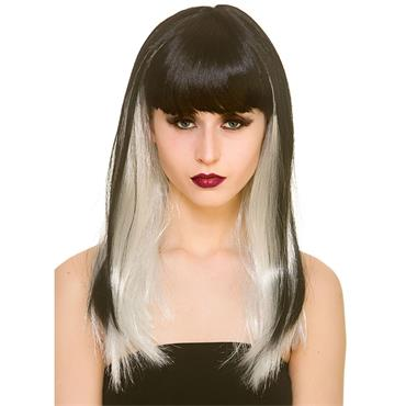 Dark Fantasy Wig - Black / White