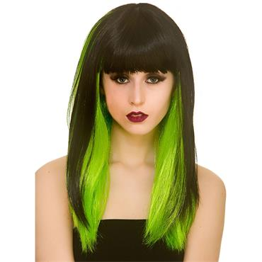 Dark Fantasy Wig -  Black / Green