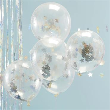 Holographic Confetti Balloons - Jolly Vibes