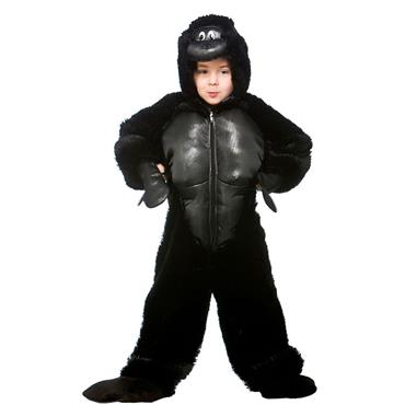 Childrens Gorilla Jumpsuit Costume