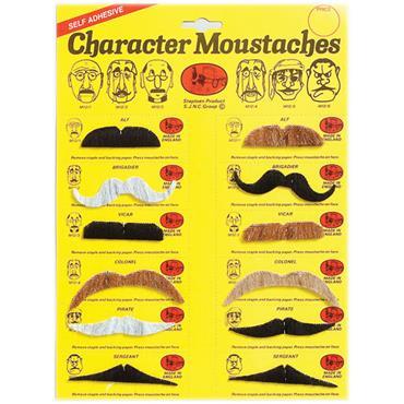 Assorted Colour Moustaches