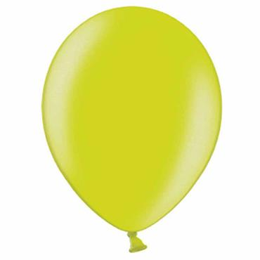"Apple Green Metallic Latex Balloons 12"" (100pk)"