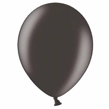 "Black Metallic Latex Balloons 12"" (100pk)"