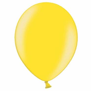 "Citrus Yellow Metallic Latex Balloons 12"" (100pk)"