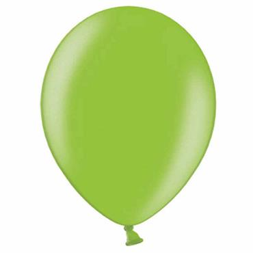 "Lime Metallic Latex Balloons 12"" (100pk)"