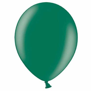 "Oxford Green Metallic Latex Balloons 12"" (100pk)"