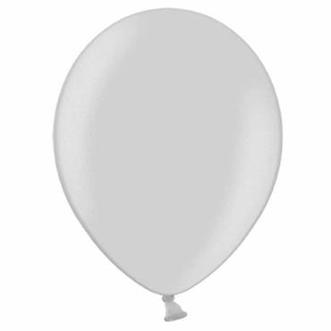"Silver Metallic Latex Balloons 12"" (100pk)"