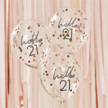 Hello 21 Birthday Balloons