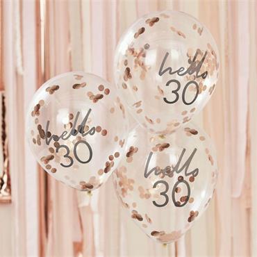 Hellow 30 Birthday Balloons