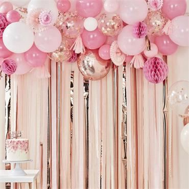 garland party backdrop