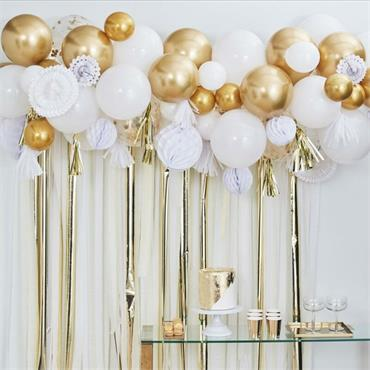Balloon & Fan Garland Backdrop