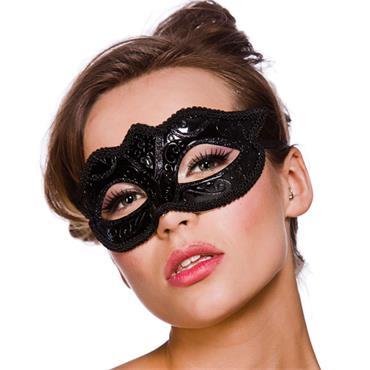 Verona Eyemask - Black Glitter