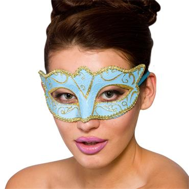 Verona Eye Mask -Blue & Gold