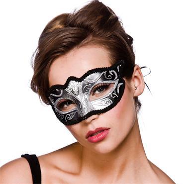 Verona Eyemask - Silver W/ Silver Glitter