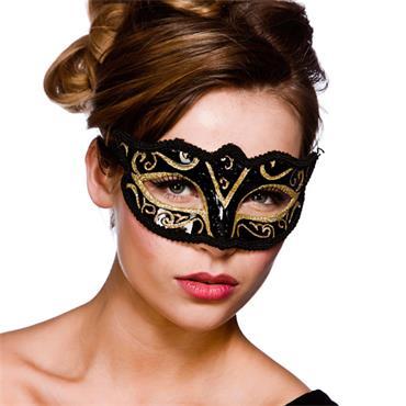 Verona Eyemask - Gold Glitter