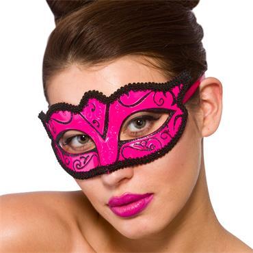 Verona Eye Mask - Pink Glitter