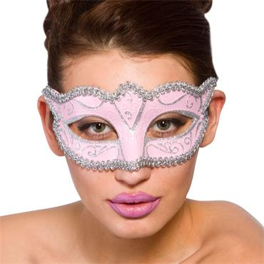 Verona Eye Mask - Pink & Silver