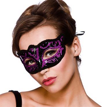 Verona Eyemask - Purple Glitter