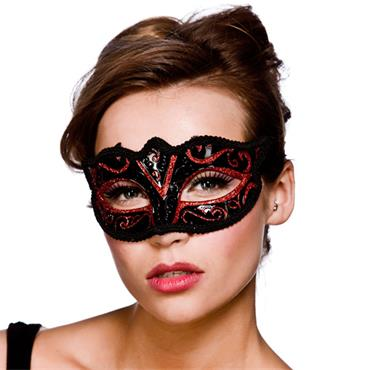 Verona Eyemask - Red Glitter