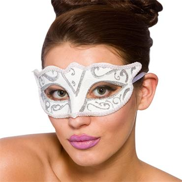 Verona Eye Mask - White & Silv