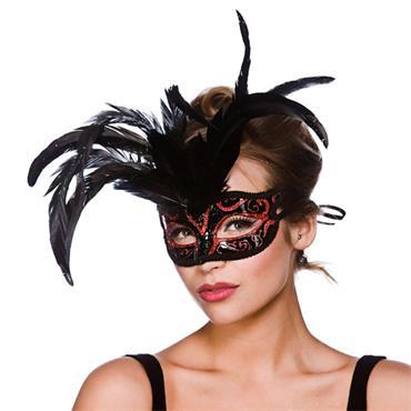 Milano Eyemask - Red Glitter
