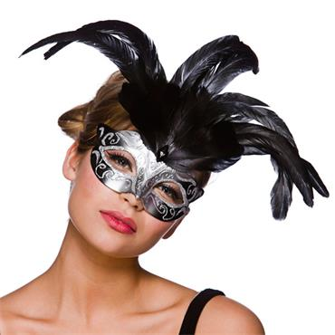 Firenze Eyemask - Silver With Silver Glitter