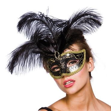 Vicenza Eyemask - Black & Gold
