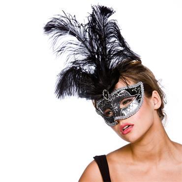 Vicenza Eyemask - Black & Silver