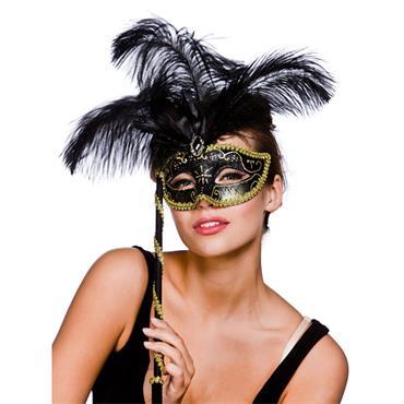 Treviso Eyemask - Black & Gold