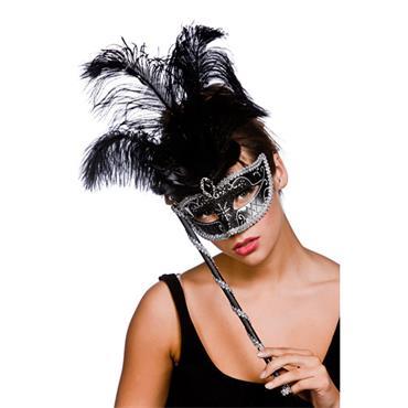 Treviso Eyemask - Black & Silver
