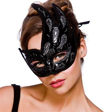 Livorno Eyemask - Black With Black Glitter