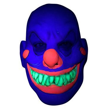 Latex Mask - Neon UV Clown