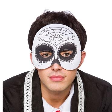 Day Of The Dead 1/2 Face Mask