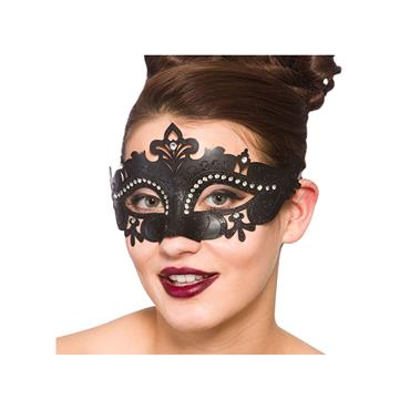 Metal Demonte Eye Mask - Black