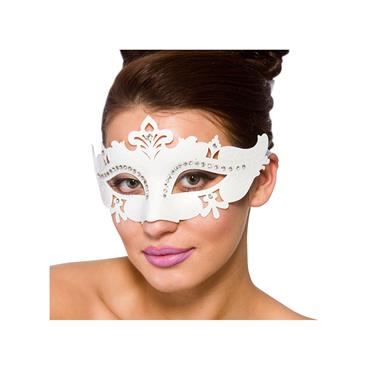 Metal Demonte Eye Mask - White