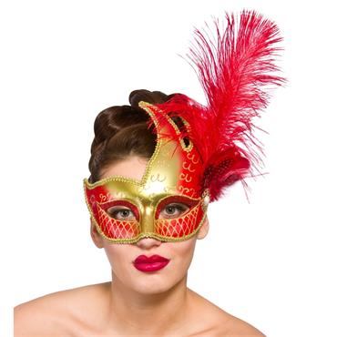 Revello Eye Mask - Gold & Red