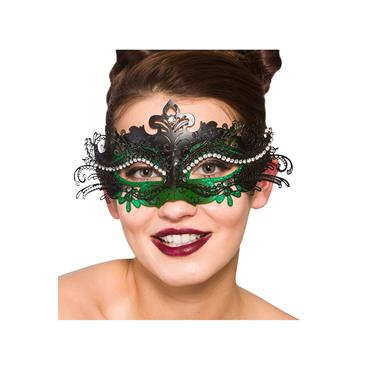 Metal Puccini Deluxe Eyemask - Black & Green