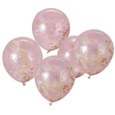 Star Confetti Balloons - Make A Wish