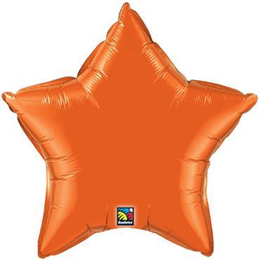 "Orange Star Foil Balloon 19"""
