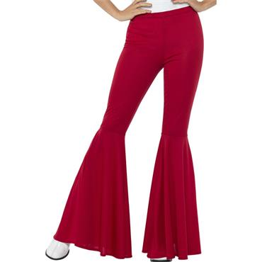 Flared Trousers - Red