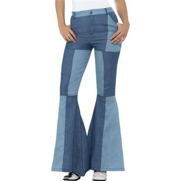 Deluxe Flared Trousers - Blue