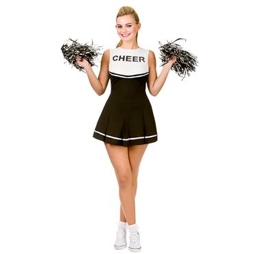 Cheerleader Black/White Costume
