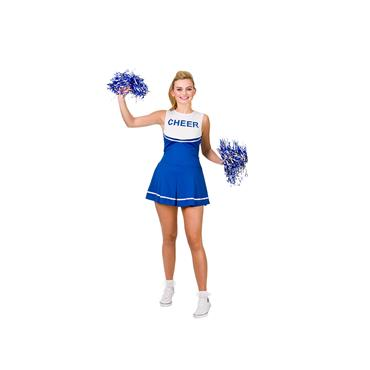 Cheerleader Blue/White Costume