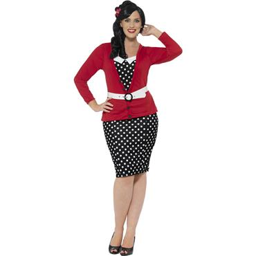 Curves 50's Pin Up Costume