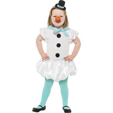 Puffball Snowgirl Costume