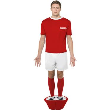 Subbuteo Red Strip Costume