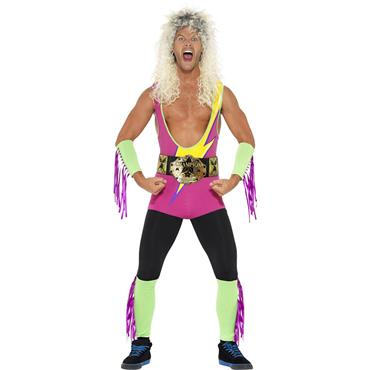Retro Wrestler Costume, with Bodysuit